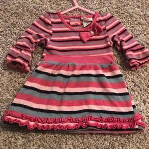 Pretty Pink Stripped Sweater Dress